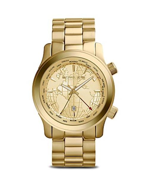 World Map Runway Watch by Michael Kors in A Good Day to Die Hard