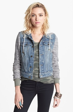 Denim & Knit Jacket by Free People in Master of None