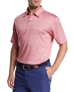Linen-Blend Short-Sleeve Polo Shirt by Peter Millar in Ballers