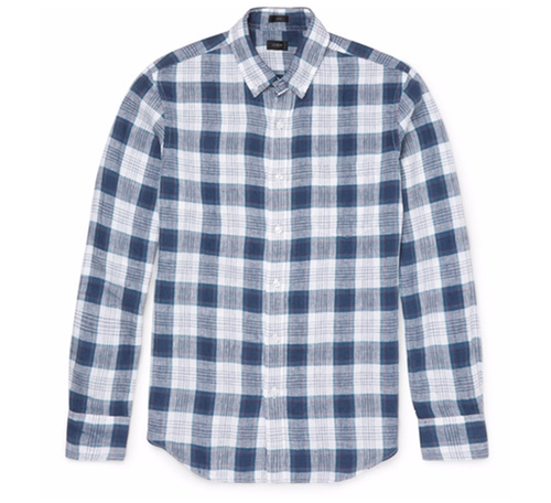 Checked Linen Shirt by J.Crew in The Walking Dead - Season 6 Looks