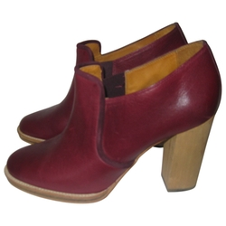 Burgundy Leather Ankle Boots by Isabel Marant in Supergirl