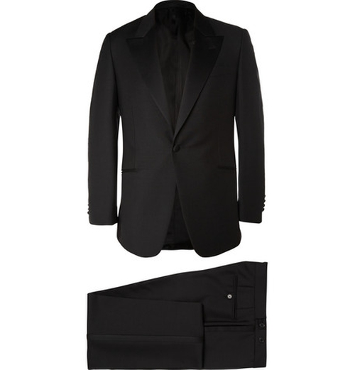 Slim-fit Wool And Mohair-Blend Tuxedo by Huntsman in Atonement