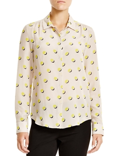 Dondolo Silk Dot Print Blouse by Max Mara in The Mindy Project