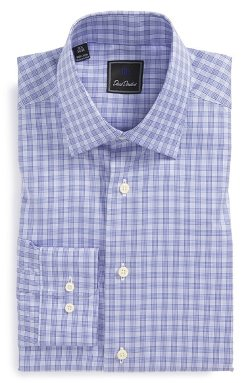 Regular Fit Check Dress Shirt by David Donahue in Hot Pursuit