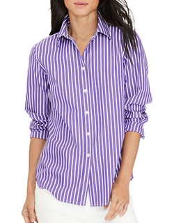 Striped Cotton Shirt by Lauren Ralph Lauren in High School Musical 3: Senior Year