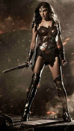 Custom Made 'Wonder Woman' Costume (Diana Prince) by Michael Wilkinson (Costume Designer) in Batman v Superman: Dawn of Justice