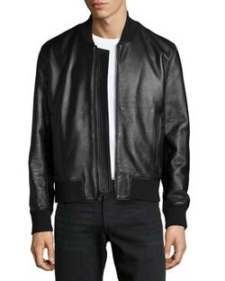 Sterne Leather Bomber Jacket by J Brand Jeans  in The Good Wife