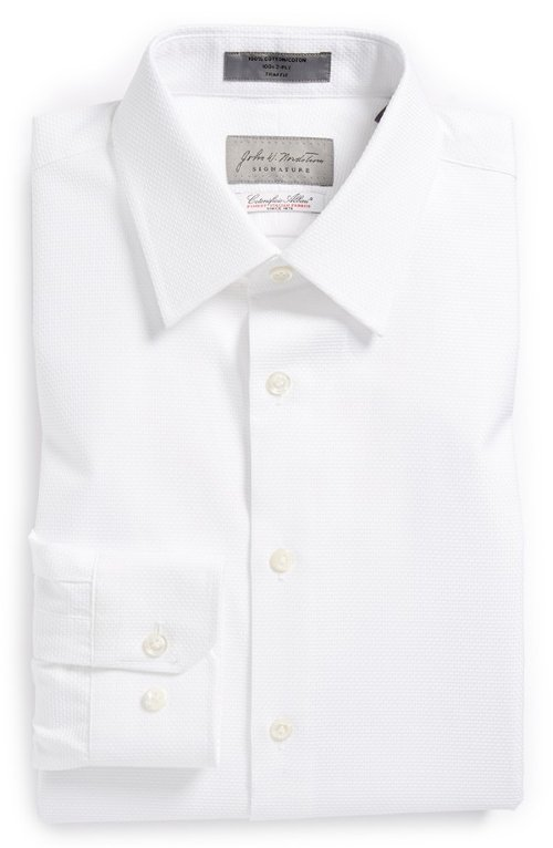 Signature Trim Fit Cotton Dress Shirt by John W. Nordstrom in Shutter Island