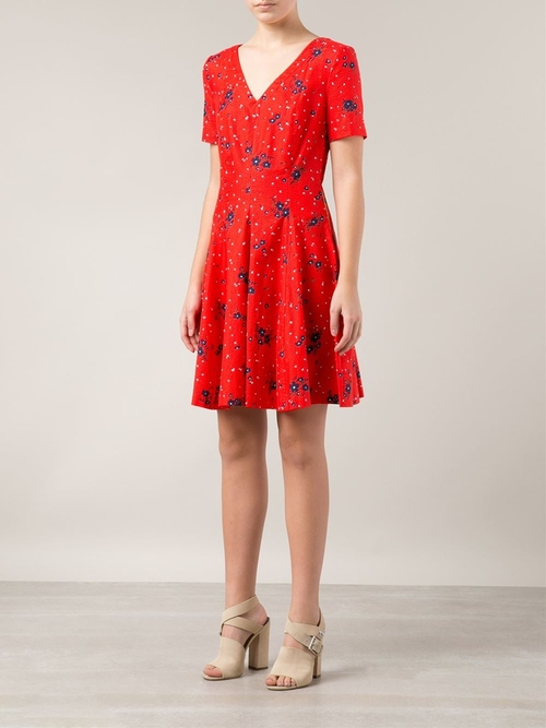 Floral Print Dress by Band of Outsiders in Begin Again