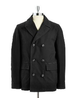 Double Breasted Car Coat by Strellson in A Walk Among The Tombstones