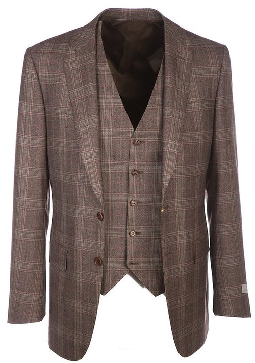 Three Piece Check Suit by Canali in American Horror Story