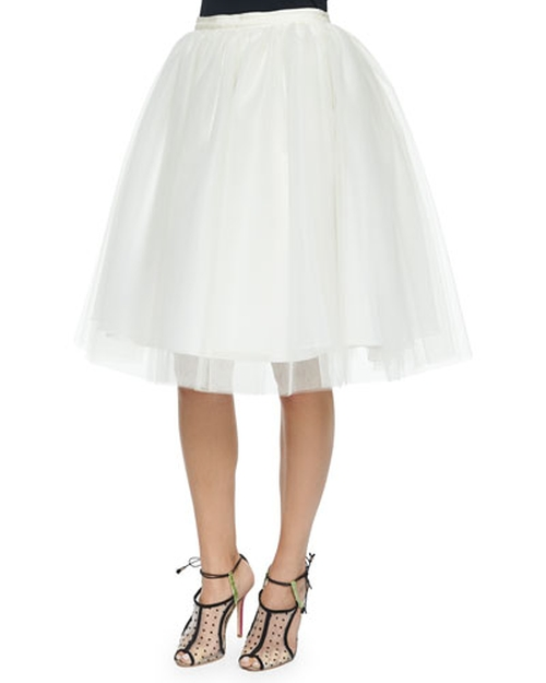 Justina Tulle Skirt by Alice + Olivia in Scream Queens