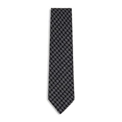 Oversized Houdstooth Classic Silk Tie by Tom Ford in Suits