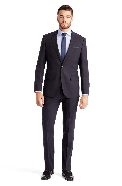'Huge/Genius' | Slim Fit, Stretch Virgin Wool Suit by Hugo Boss in X-Men: Days of Future Past