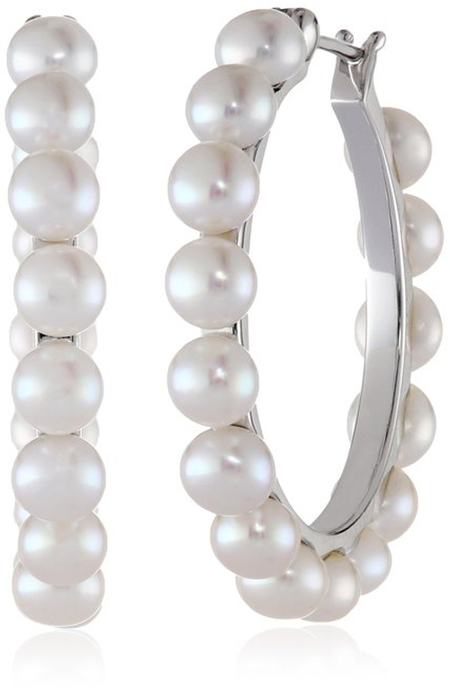Freshwater Cultured Pearl Hoop Earrings by Honora in Scream Queens - Season 1 Episode 2