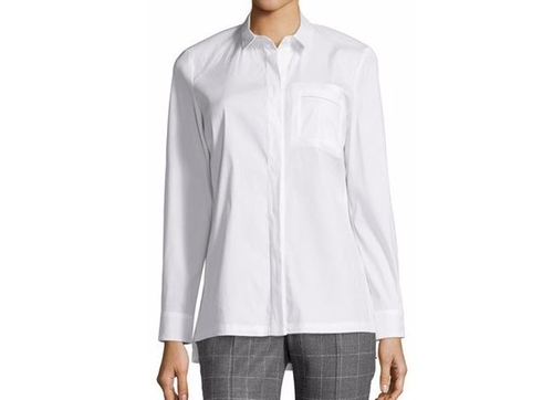 Long-Sleeve Button-Front Poplin Shirt by Peserico in Suits - Season 6 Episode 10