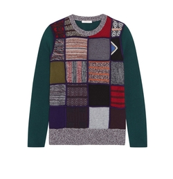 Patchwork Knitted Sweater by See By Chloé in Fuller House