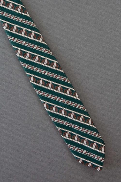 Brown Lions & Leaves - Skinny Stripe Necktie by YourNecktieShop in Anchorman 2: The Legend Continues