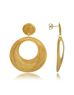 Etched Round Cut Out Drop Earrings by Stefano Patriarchi in Bridesmaids