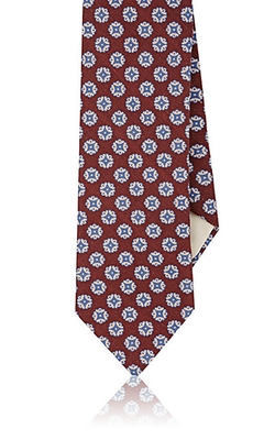 Medallion-Print Necktie by Barneys New York in Guilt