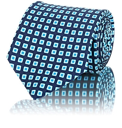 Square Pattern Necktie by Kiton in Billions