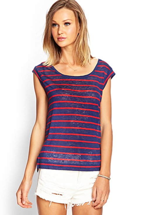 Linen Striped Top by Forever 21 in If I Stay