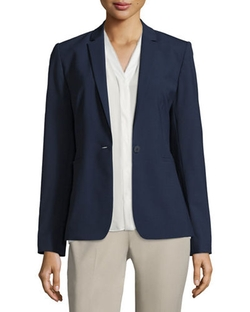 Darcy One-Button Stretch-Wool Jacket by Elie Tahari in Mistresses