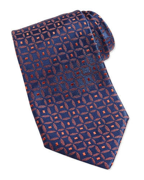 Medallion-Print Silk Tie by Charvet	 in Suits - Season 5 Episode 6