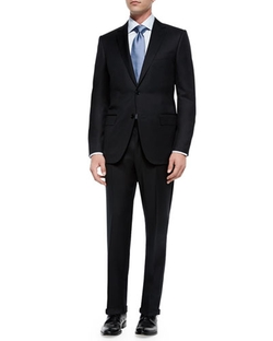 Solid Two-Piece Suit by Ermenegildo Zegna in Valentine's Day