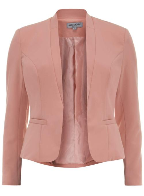 Light Pink Slim Lapel Blazer by Alice And You in Get On Up