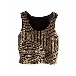 Sequin Embellished Sparkle Tank Top by Canis in Sisters