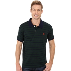Slim Fit Interlock Stripe Polo Shirt by U.S. Polo Assn. in Regression