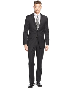 Solid Extra-Slim-Fit Suit by DKNY in Office Christmas Party