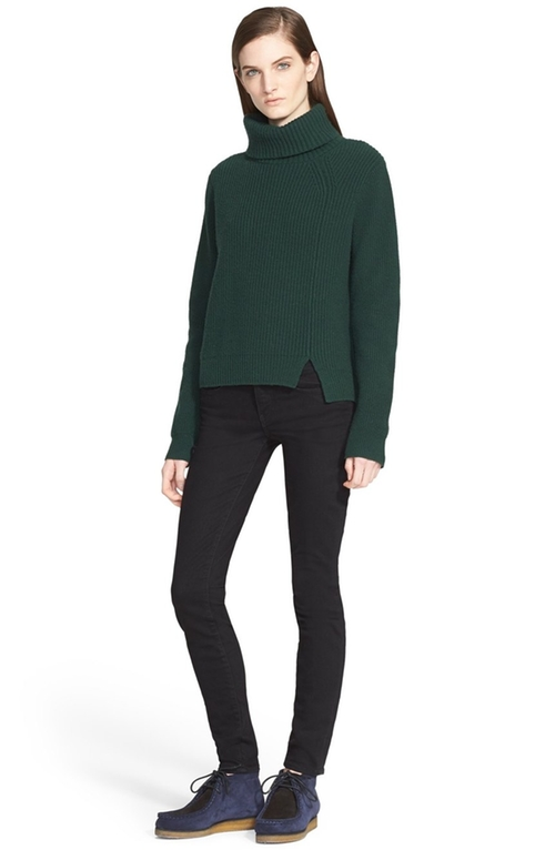 Ribbed Wool & Cashmere Turtleneck Sweater by Proenza Schouler in Keeping Up With The Kardashians - Season 12 Episode 3