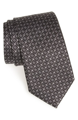 Gancini Print Silk Tie by Salvatore Ferragamo in Scandal