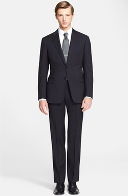'Giorgio' Trim Fit Wool Suit by Armani Collezioni in The Good Wife