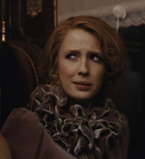 Custom Made Ruffle Dress by Jenny Beavan (Costume Designer) in Sherlock Holmes: A Game of Shadows
