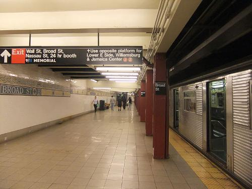 Broad Street Station (BMT Nassau Street Line) New York City, New York in Teenage Mutant Ninja Turtles (2014)
