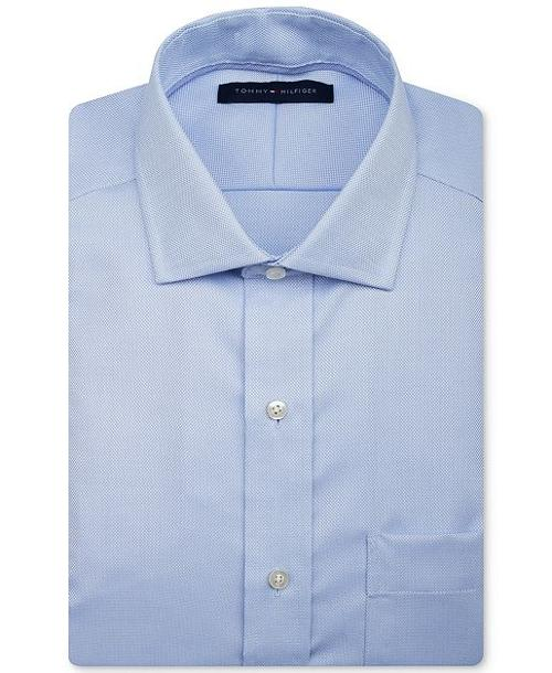 Non-Iron Solid Dress Shirt by Tommy Hilfiger in Mortdecai