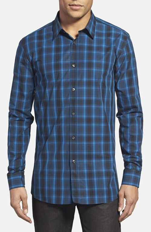 Slim Fit Plaid Sport Shirt by Hugo in The Longest Ride