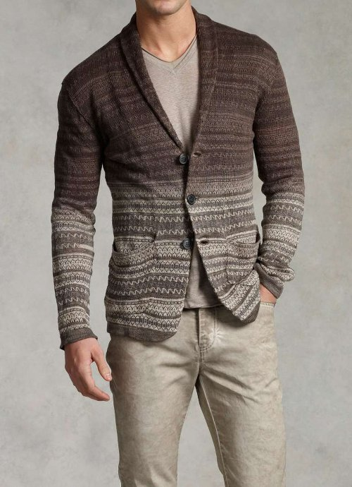 Dip Dyed Sweater Cardigan by John Varvatos in Entourage