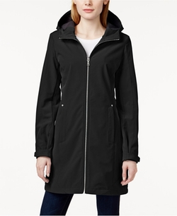 Hooded Water-Resistant Softshell Jacket by Calvin Klein  in Blair Witch