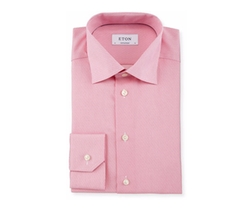 Contemporary-Fit Chain-Stitch Print Dress Shirt by Eton in Scream Queens