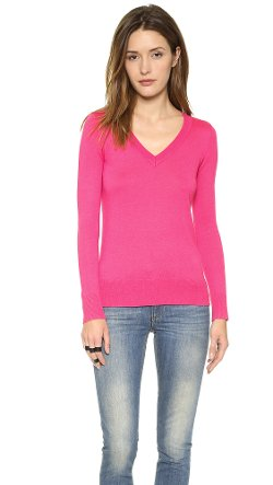 Fine V-Neck Sweater by Splendid in If I Stay