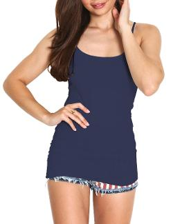 Women's Cotton Camisole Spaghetti Straps Tank Top by Azkara in Project Almanac