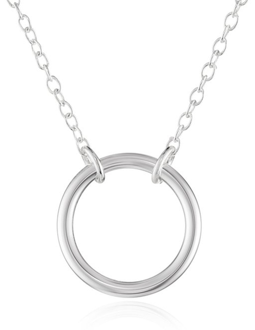 Sterling Silver Open Circle Necklace by Amazon Collection in Scout's Guide to the Zombie Apocalypse