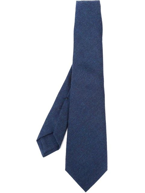 Classic Wool Tie by Kiton in Elementary - Season 4 Episode 6