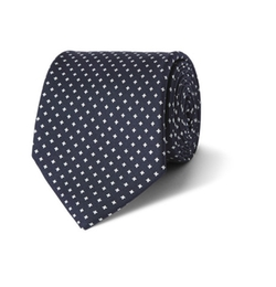 Printed Silk Tie by Emma Willis in Billions