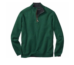 Twill Reversible Half-Zip Sweater by Tommy Bahama in Silicon Valley