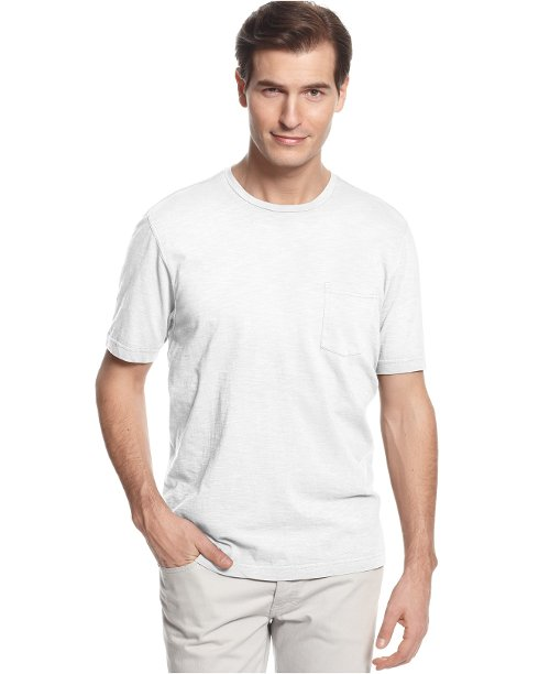 Slub Crew Neck Pocket T-Shirt by Tasso Elba in Begin Again